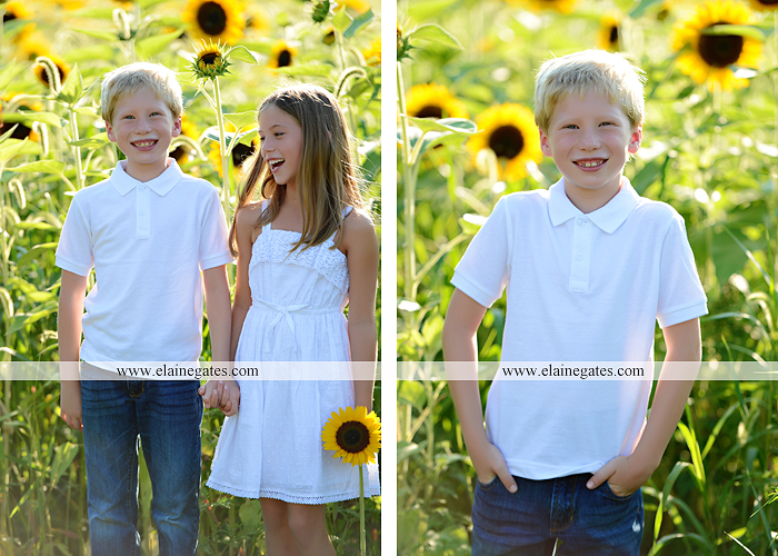 Mechanicsburg Central PA family portrait photographer outdoor girls boy sunflowers field forest trees path father mother cousins brother sister sisters siblings gf 06