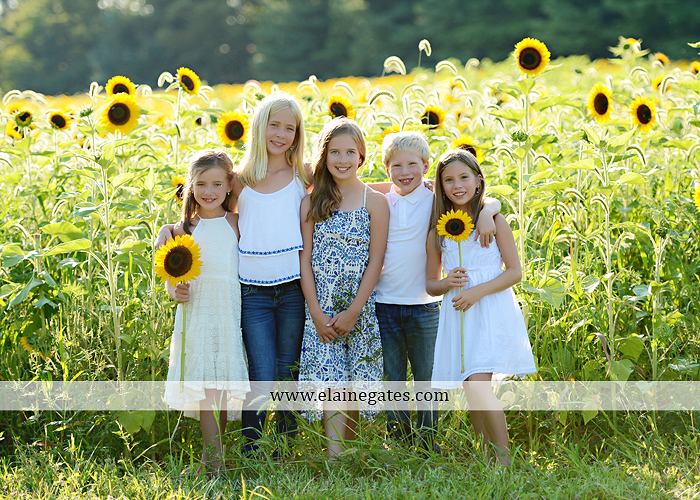 Mechanicsburg Central PA family portrait photographer outdoor girls boy sunflowers field forest trees path father mother cousins brother sister sisters siblings gf 07