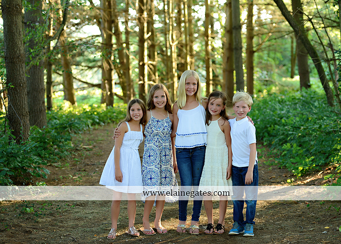 Mechanicsburg Central PA family portrait photographer outdoor girls boy sunflowers field forest trees path father mother cousins brother sister sisters siblings gf 09