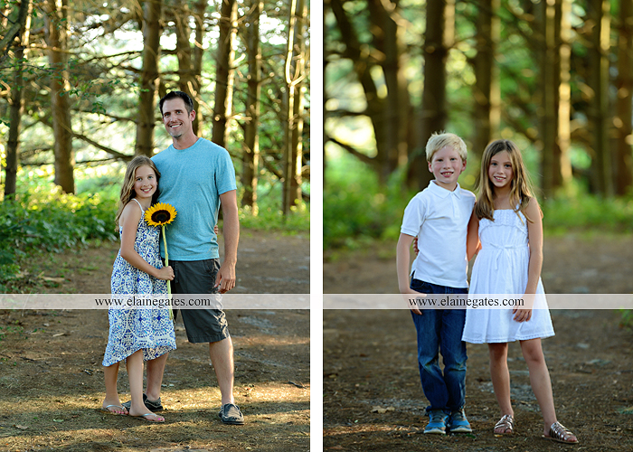 Mechanicsburg Central PA family portrait photographer outdoor girls boy sunflowers field forest trees path father mother cousins brother sister sisters siblings gf 11