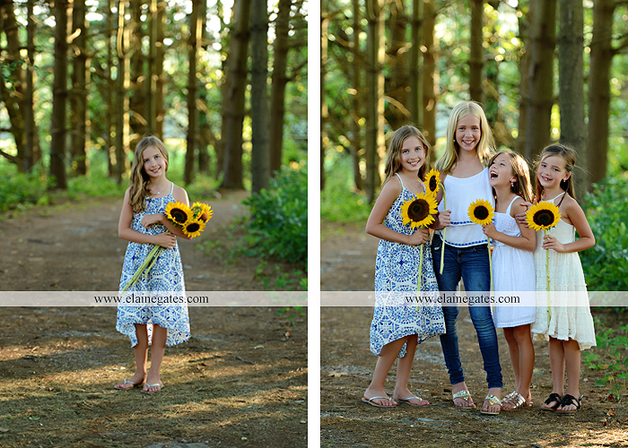 Mechanicsburg Central PA family portrait photographer outdoor girls boy sunflowers field forest trees path father mother cousins brother sister sisters siblings gf 12