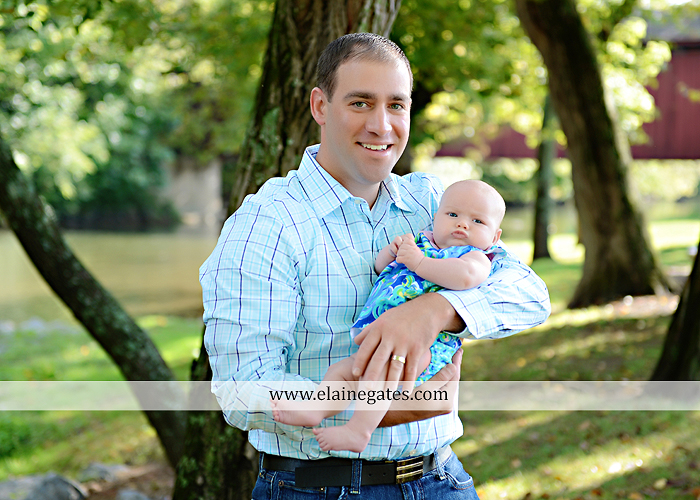 Mechanicsburg Central PA family portrait photographer outdoor boys brothers mother father sisters baby water stream creek trees covered bridge messiah college path rf 03