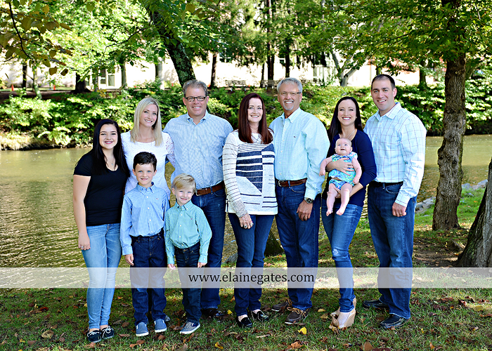 Mechanicsburg Central PA family portrait photographer outdoor boys brothers mother father sisters baby water stream creek trees covered bridge messiah college path rf 05