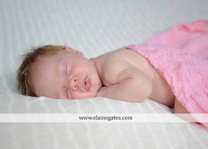 Mechanicsburg Central PA newborn baby portrait photographer girl sleeping indoor blanket bow basket tutu knit hat grass ns 01