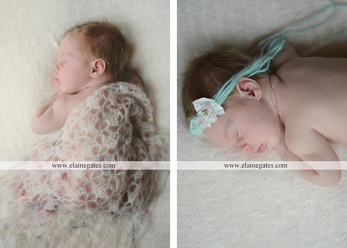 Mechanicsburg Central PA newborn baby portrait photographer girl sleeping indoor blanket bow basket tutu knit hat grass ns 04