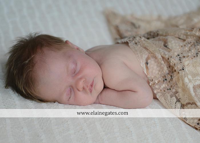 Mechanicsburg Central PA newborn baby portrait photographer girl sleeping indoor blanket bow basket tutu knit hat grass ns 06