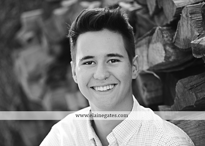 Mechanicsburg Central PA senior portrait photographer outdoor guy male formal trees grass wood stack forest bench nd 03