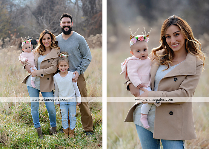 Mechanicsburg Central PA family portrait photographer outdoor girl toddler baby  mother father kiss kids field barn trees ar 06