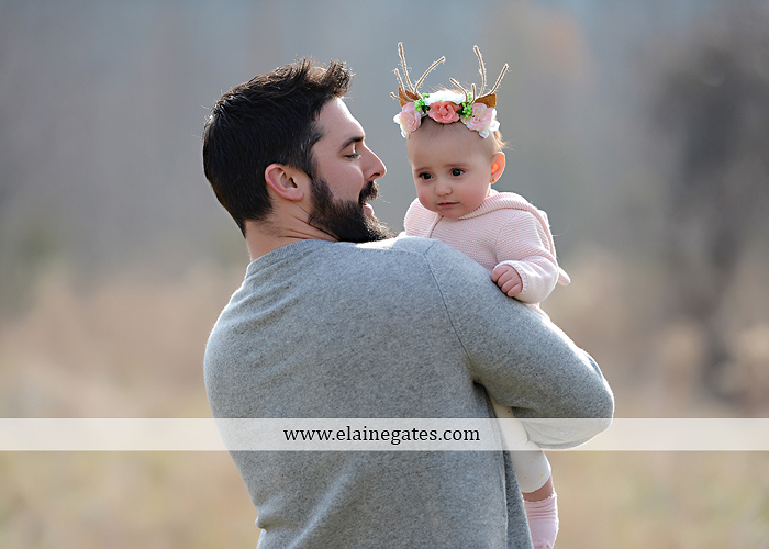 Mechanicsburg Central PA family portrait photographer outdoor girl toddler baby  mother father kiss kids field barn trees ar 07