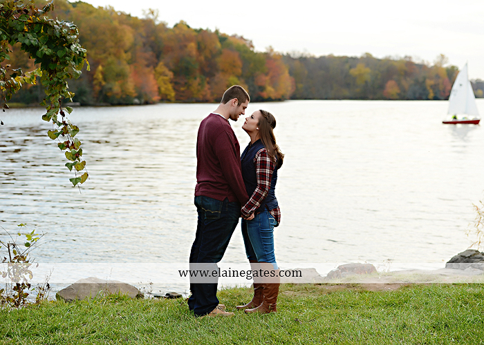 Mechanicsburg Central PA engagement portrait photographer outdoor pinchot state park water lake boat dock trees grass field path kiss aw 02
