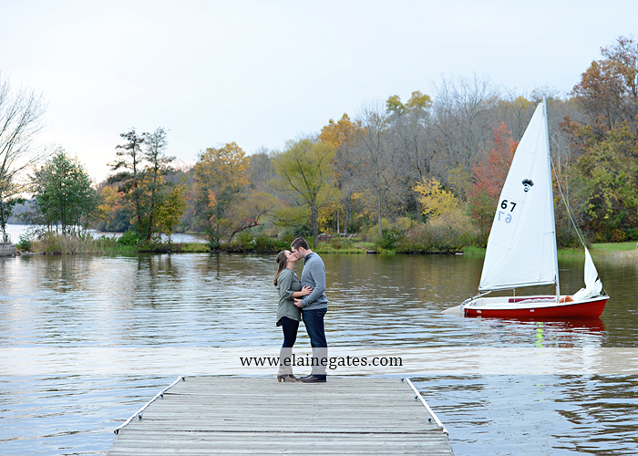 Mechanicsburg Central PA engagement portrait photographer outdoor pinchot state park water lake boat dock trees grass field path kiss aw 04