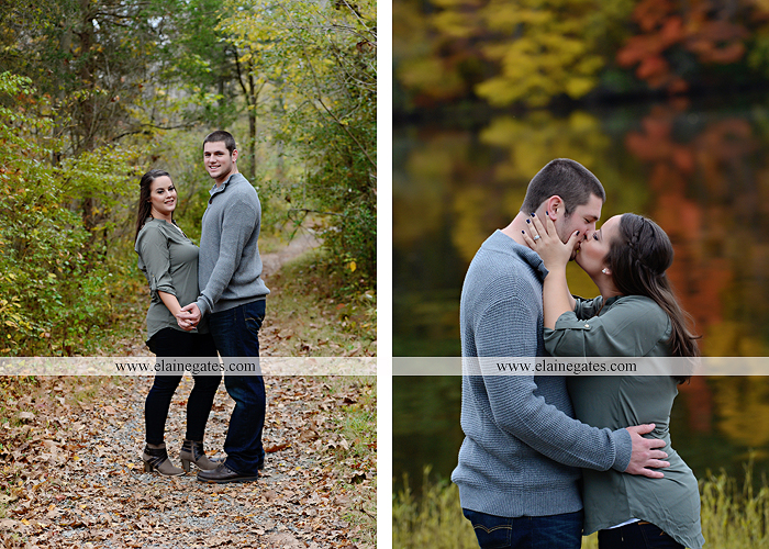 Mechanicsburg Central PA engagement portrait photographer outdoor pinchot state park water lake boat dock trees grass field path kiss aw 08