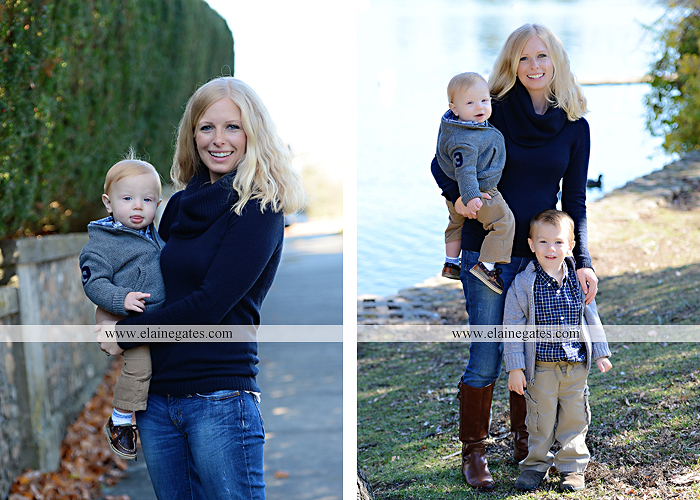 Mechanicsburg Central PA family portrait photographer outdoor boys brothers sons mother father boiling springs lake water leaves bridge steps stone wall nc 10