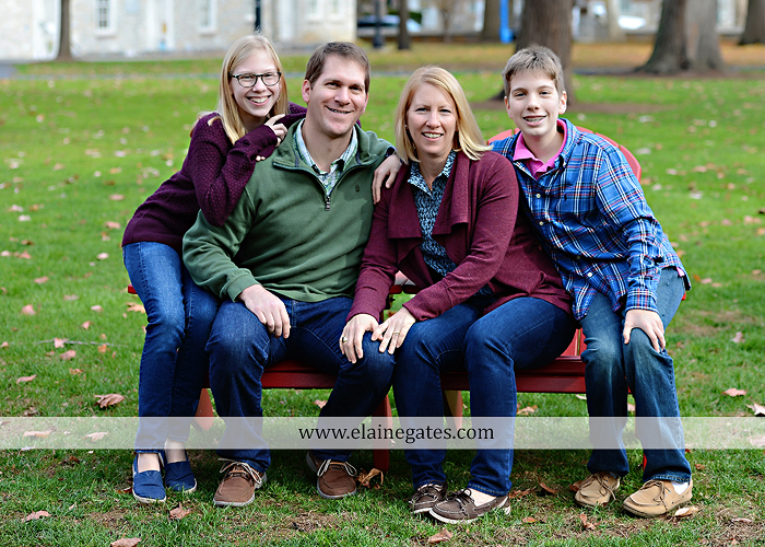 Mechanicsburg Central PA family portrait photographer outdoor girl boy sister brother husband wife father mother dickinson college grass adirondack chair path rocks stone wall leaves tree df 1