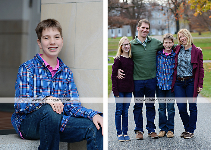 Mechanicsburg Central PA family portrait photographer outdoor girl boy sister brother husband wife father mother dickinson college grass adirondack chair path rocks stone wall leaves tree df 4