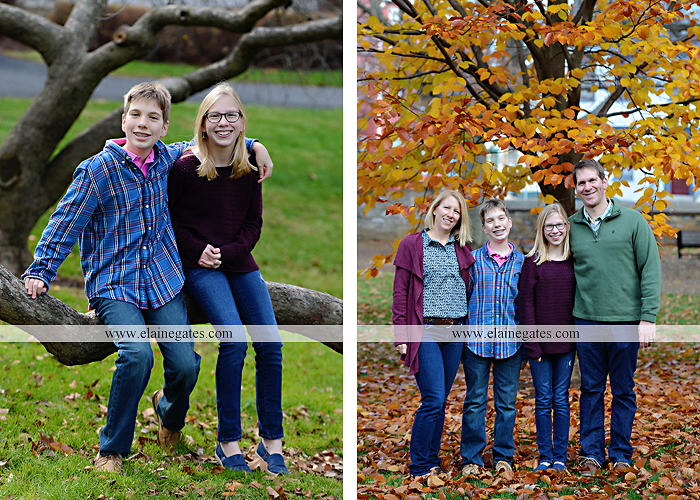 Mechanicsburg Central PA family portrait photographer outdoor girl boy sister brother husband wife father mother dickinson college grass adirondack chair path rocks stone wall leaves tree df 9