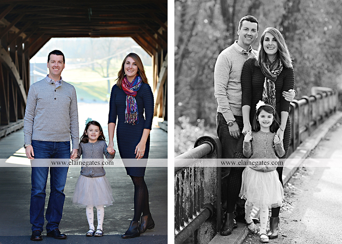 Mechanicsburg Central PA family portrait photographer outdoor girl daughter husband wife father mother trees forest covered bridge stump rustic bridge road kb 5