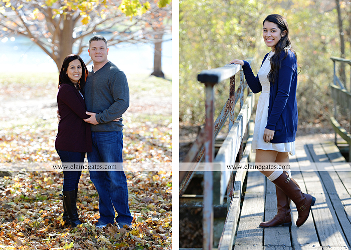 Mechanicsburg Central PA family portrait photographer outdoor girl sisters mother father leaves boiling springs lake trees wood bridge grass stone wall cc 03