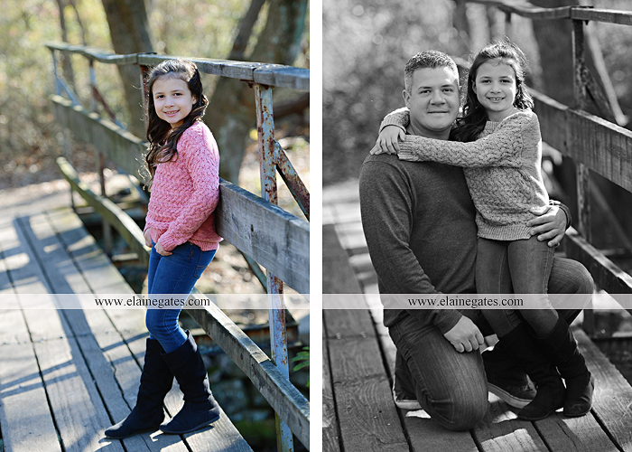Mechanicsburg Central PA family portrait photographer outdoor girl sisters mother father leaves boiling springs lake trees wood bridge grass stone wall cc 04