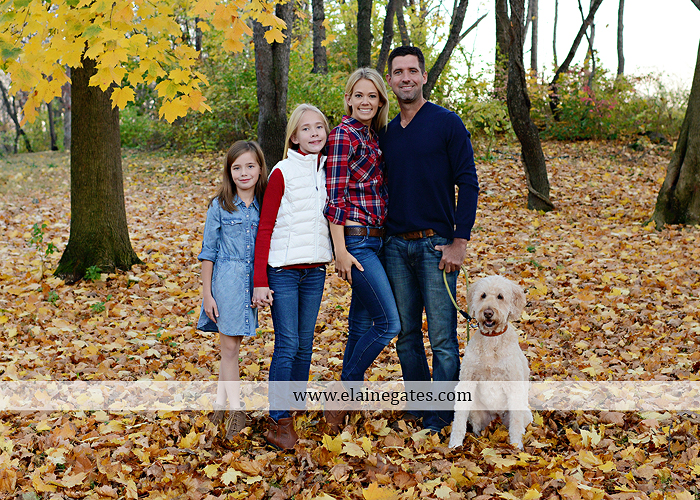 Mechanicsburg Central PA family portrait photographer outdoor girls daughters sisters dog husband wife mother father wood pile leaves trees eg 2