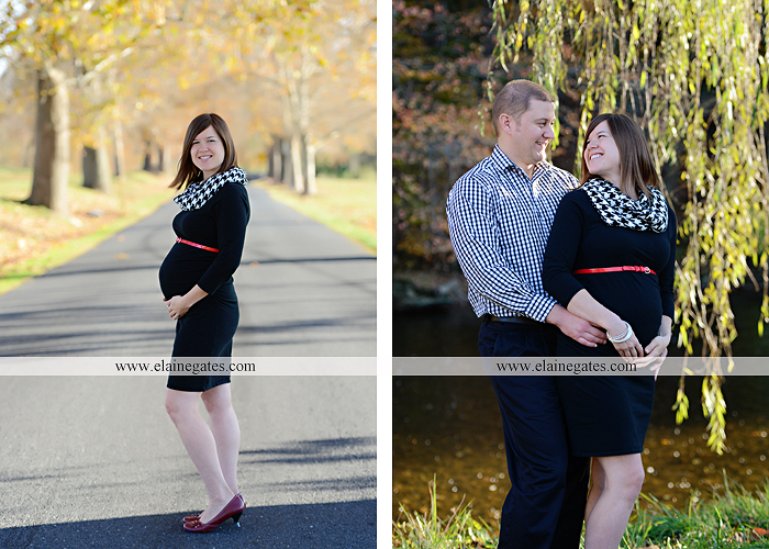 Mechanicsburg Central PA portrait photographer maternity outdoor path trees grass water stream creek kiss holding hands pillow sonogram belly rings jm 1