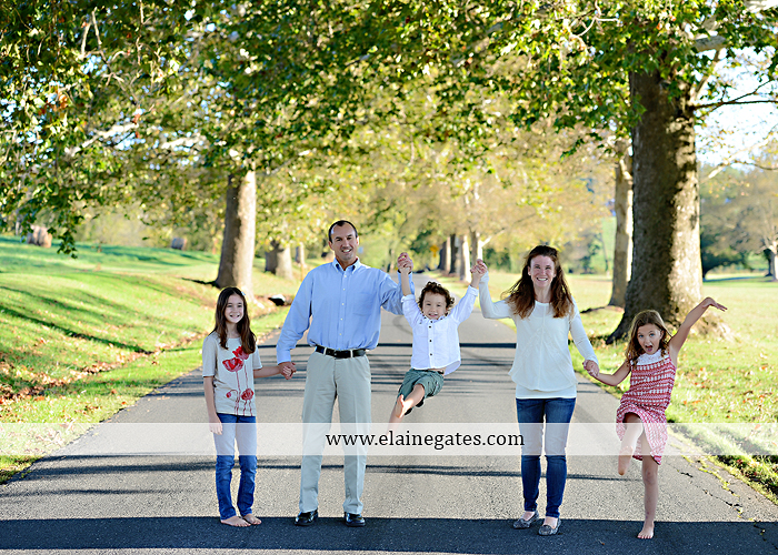 Mechanicsburg Central PA family portrait photographer outdoor children boy girls son daughters mother father husband wife grass road fence water stream creek leaves fall mf 09