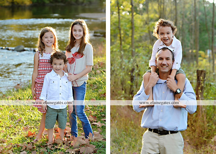 Mechanicsburg Central PA family portrait photographer outdoor children boy girls son daughters mother father husband wife grass road fence water stream creek leaves fall mf 15