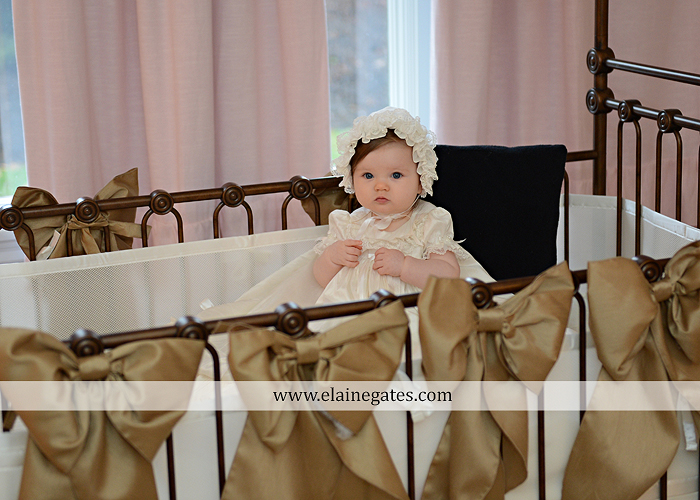 Mechanicsburg Central PA newborn baby portrait photographer girl indoor chair mother father dog quilt bed crib dress dj 6