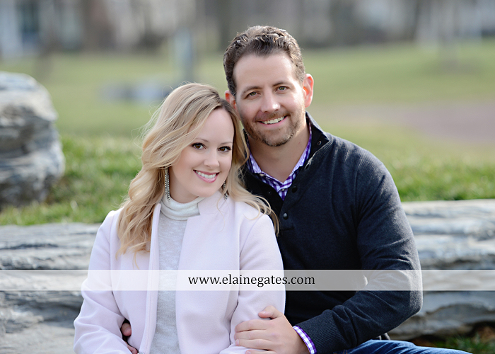 Mechanicsburg Central PA engagement portrait photographer outdoor grass trees stone path hug holding hands rocks az 3 (1)