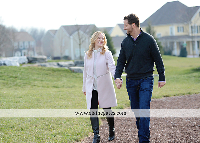 Mechanicsburg Central PA engagement portrait photographer outdoor grass trees stone path hug holding hands rocks az 4 (1)