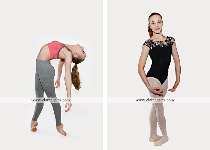 Mechanicsburg Central PA teenager portrait photographer indoor studio girl ballet dance posing headshot jw 4