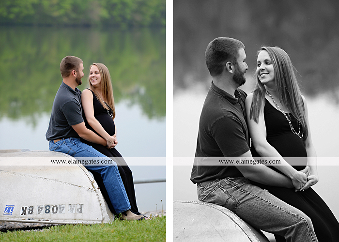 Mechanicsburg Central PA portrait photographer maternity outdoor field pinchot state park Lewisberry lake water boat dock holding hands kiss jb 2