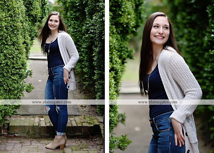Mechanicsburg Central PA senior portrait photographer outdoor girl female Venue Chilton brick wall stone wall stone arch steps iron gate shrub row hedges cvhs cumberland valley high school jt 2