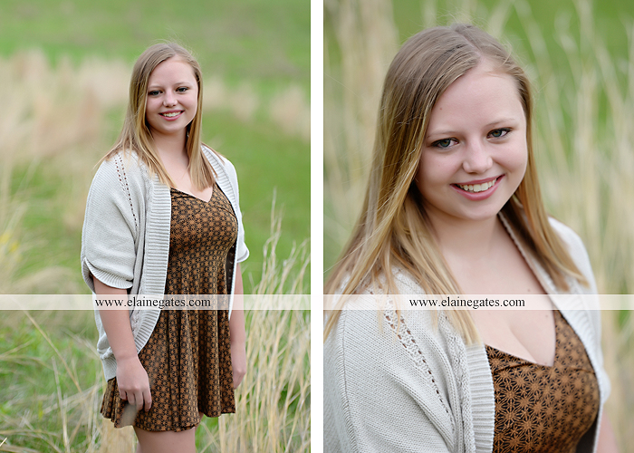 Mechanicsburg Central PA senior portrait photographer outdoor girl female field grass trees flowers road fence water stream creek rock mother mom as 1