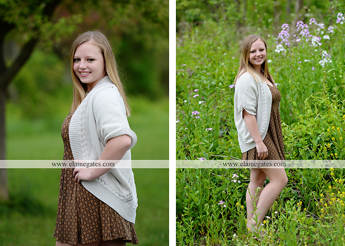 Mechanicsburg Central PA senior portrait photographer outdoor girl female field grass trees flowers road fence water stream creek rock mother mom as 2