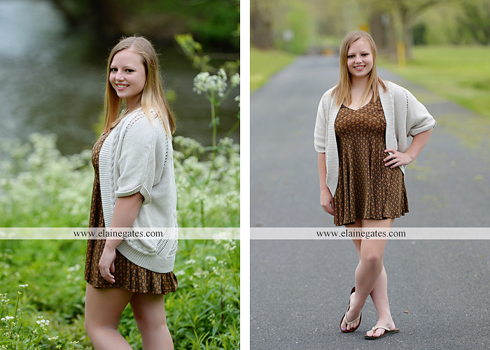 Mechanicsburg Central PA senior portrait photographer outdoor girl female field grass trees flowers road fence water stream creek rock mother mom as 3