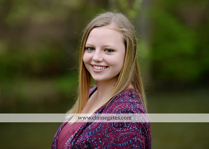 Mechanicsburg Central PA senior portrait photographer outdoor girl female field grass trees flowers road fence water stream creek rock mother mom as 6