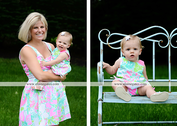 Mechanicsburg Central PA baby child portrait photographer girl outdoor indoor mom mother bench one year old birthday tutu balloons banner cake smash eat jt 1