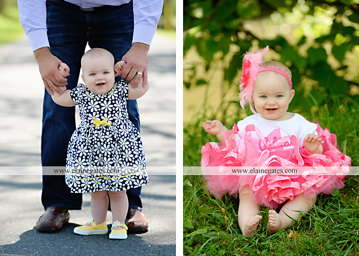 Mechanicsburg Central PA baby child portrait photographer girl outdoor road mother father grass trees tutu 1st birthday one year old water stream creek mb 3