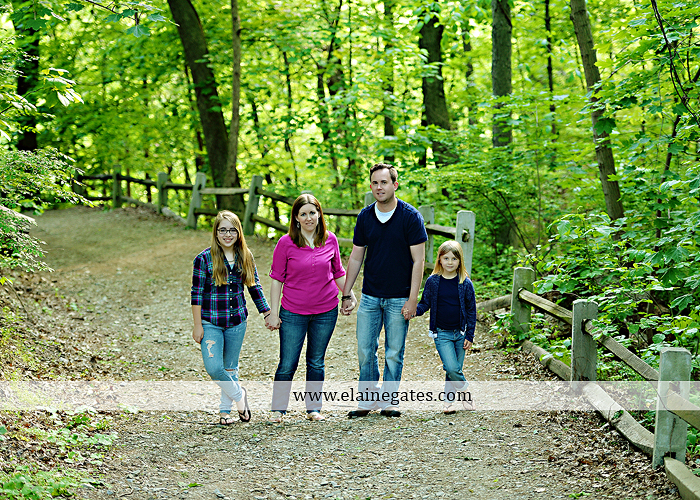Mechanicsburg Central PA family portrait photographer outdoor children girls sisters mother father mom dad grass path water creek stream shore trees woods steps flowers sb 07