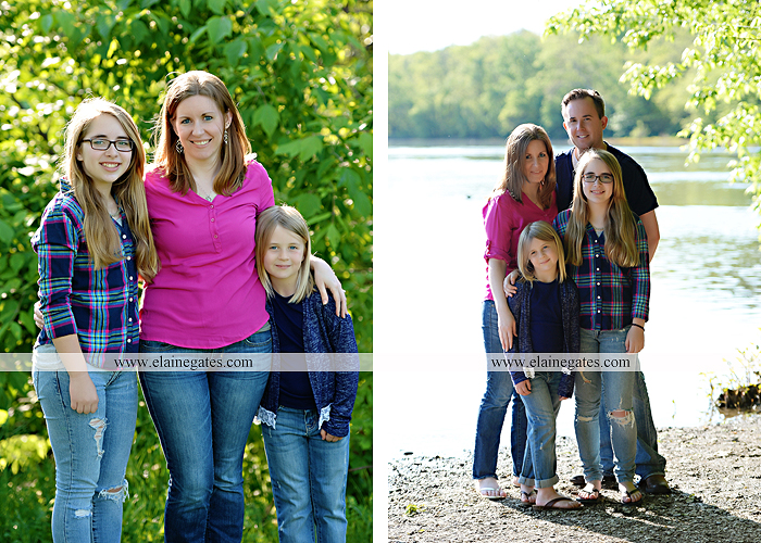 Mechanicsburg Central PA family portrait photographer outdoor children girls sisters mother father mom dad grass path water creek stream shore trees woods steps flowers sb 08