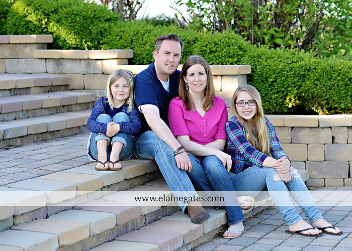 Mechanicsburg Central PA family portrait photographer outdoor children girls sisters mother father mom dad grass path water creek stream shore trees woods steps flowers sb 12
