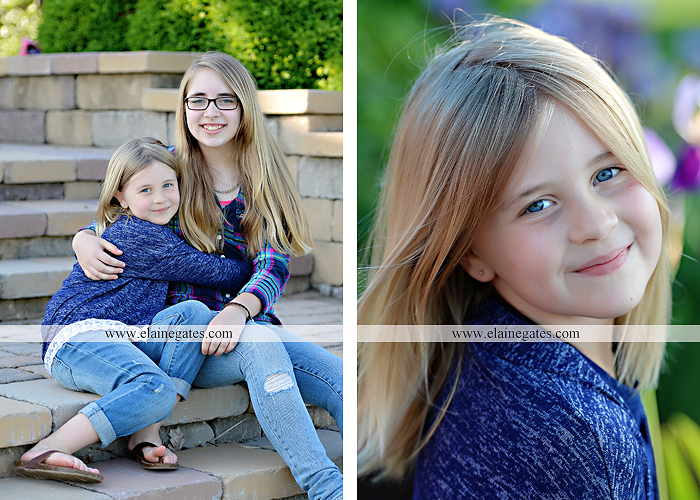Mechanicsburg Central PA family portrait photographer outdoor children girls sisters mother father mom dad grass path water creek stream shore trees woods steps flowers sb 14