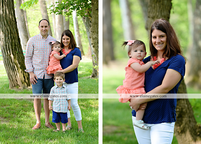 Mechanicsburg Central PA family portrait photographer outdoor children kids mother father grass trees water stream creek rocks covered bridge messiah college wildflowers wooden beams sf01