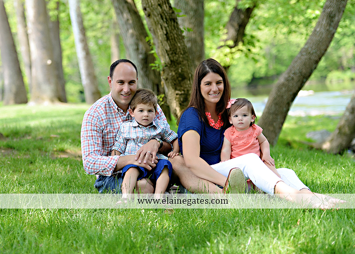 Mechanicsburg Central PA family portrait photographer outdoor children kids mother father grass trees water stream creek rocks covered bridge messiah college wildflowers wooden beams sf02