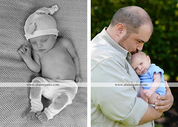 Mechanicsburg Central PA newborn baby portrait photographer boy sleeping blanket knit hat foot hand father dad mom mother kiss mb 09