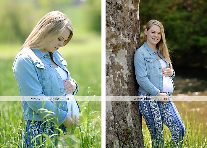 Mechanicsburg Central PA portrait photographer maternity outdoor field road tree water stream creek path holding hands hug kiss ole miss  baby bump cp 3