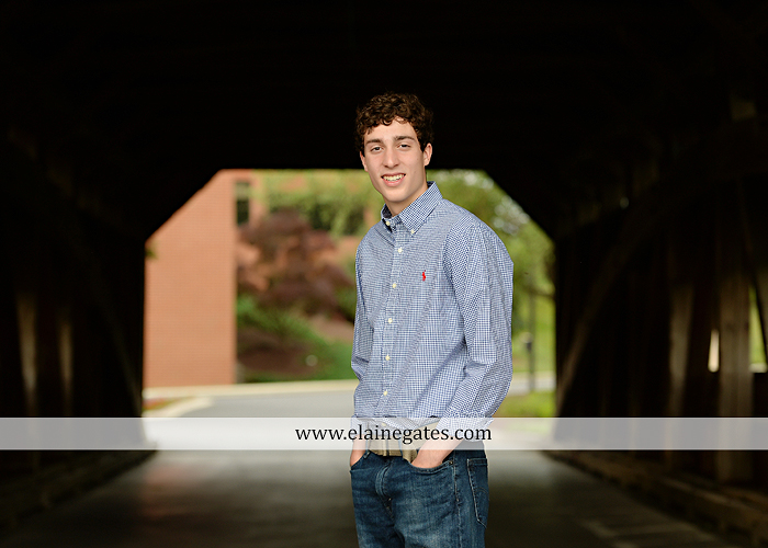 Mechanicsburg Central PA senior portrait photographer outdoor boy guy family brothers mom dad trees path field grass covered bridge messiah college track cross country running athlete at 10