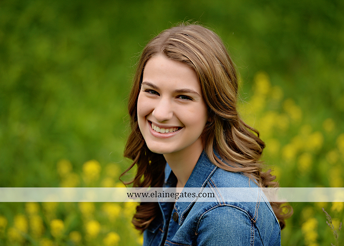 Mechanicsburg Central PA senior portrait photographer outdoor girl female field wildflowers bridge trees rock water stream creek kk 2