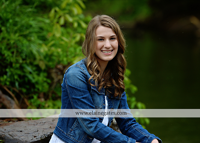 Mechanicsburg Central PA senior portrait photographer outdoor girl female field wildflowers bridge trees rock water stream creek kk 6